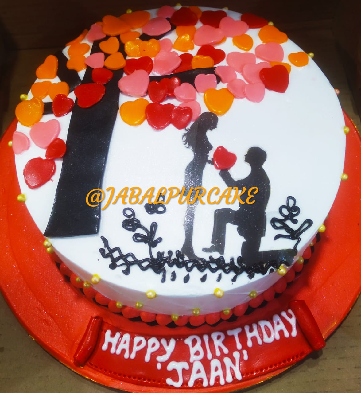 Surprising Proposal Of Love Cake Cake For Special Day Jabalpurcakedelivery Funny Birthday Cards Online Elaedamsfinfo