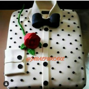 cake for him in shirt shape